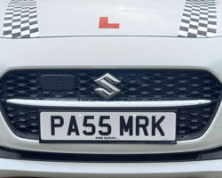 pass mark number plate